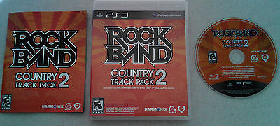 ROCK BAND COUNTRY TRACK PACK 2  --  Playstation 3 PS3 Complete  ***Guaranteed***