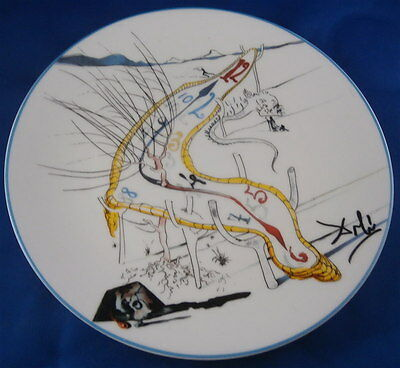 Nice Limoges Porcelain Salvador Dali Plate Melting Clock Porzellan Teller French