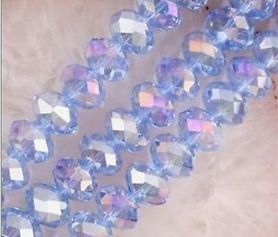 148pcs 4mm Glass Crystal Loose Beads rondelle faceted round AB DIY Jewelry