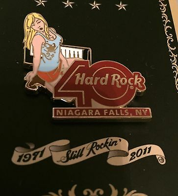 HARD ROCK CAFE NIAGARA FALLS NY DECADES ROCK SEXY GIRL 40th ANNIVERSARY PIN 2011