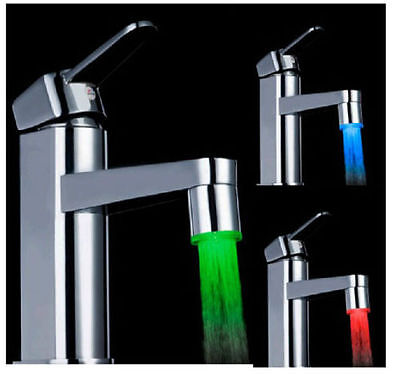 Mini 3 Color Sensor LED Light Water Faucet Tap Temperature For kitchen/Bathroom