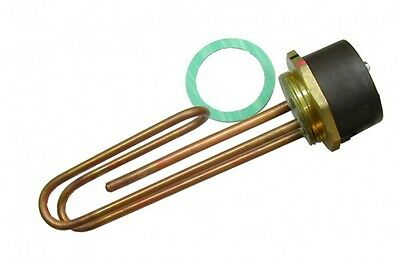 11 Inch Copper Immersion Water Heater Element and Thermostat | 3kW