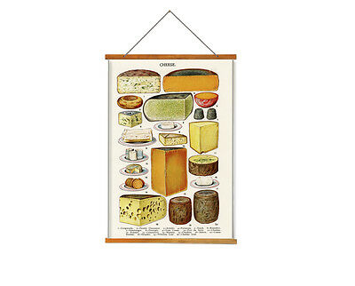 Cheese Kitchen Wall Hangings Tapesty - Vintage Art Print Poster