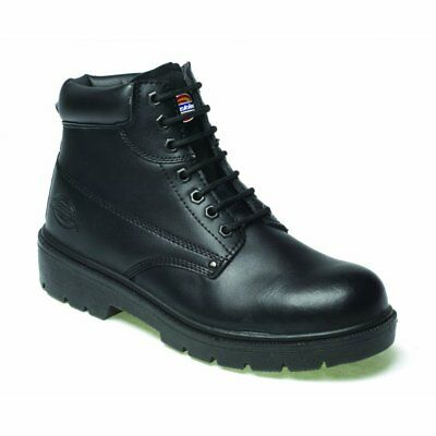 Dickies Antrim Safety Work Boot Black With Steel Toe Cap size uk 6-12 FA23333