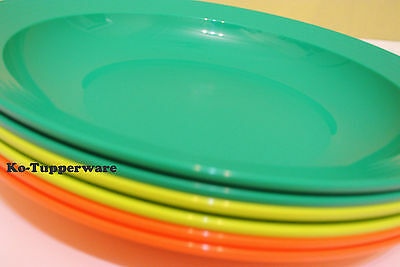 Limited edition Tupperware large deep plates (6) pantry party kitchen