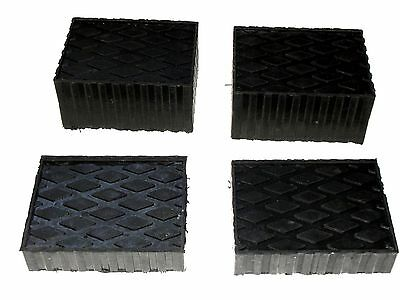 """Auto Lift / Rolling Jack Rubber Block Pad Adapter Set of 4 (2-1 1/2"""" and 2- 3"""")"""