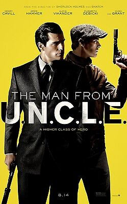 The Man From UNCLE Double Sided ORIGINAL MOVIE Film POSTER One Sheet Guy Ritchie