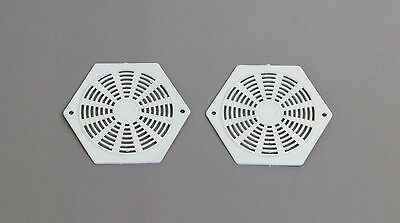 2 X HEXAGON WHITE AIR VENTS,CARAVAN MOTOR HOME.