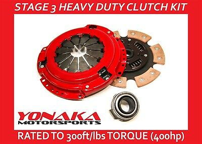 Yonaka Honda Civic D Series 92-05 6 Puck Stage 3 Performance Clutch Set 400hp