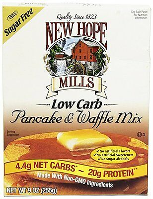 New Hope Mills Sugar Free Pancake and Waffle Mix 255 g, Low Carb, No Sugar Added