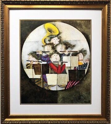 "Graciela Rodo Boulanger ""OPUS II"" Newly CUSTOM FRAMED Litho ART lithograph"
