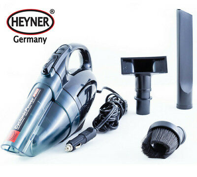 Quality car vacuum cleaner 12V hoover LED LAMP 2 FILTERS WET DRY HEYNER Germany