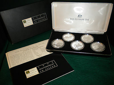 1996 Royal Australian Mint (RAM) Masterpieces in Silver Proof Set