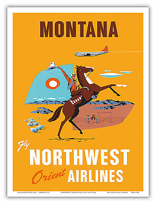 18x24 Candian Mountie RCMP Vintage Style Travel Poster