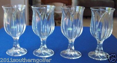CRIS D'ARQUES DURAND  POMPANO TULIP GOBLETS (4) 12 OZ MADE IN FRANCE