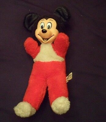 """Vintage Mickey Mouse Stuffed Toy, 13"""",  Japan"""