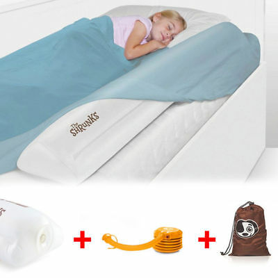 122Cm Inflatable Safety Bed Rail/Bedrail Cot Guard Protection Child Toddler Kids