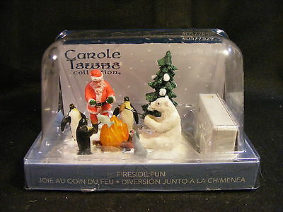 Lemax Carole Towne Collection Fireside Fun Tabletop Christmas Display w/Box