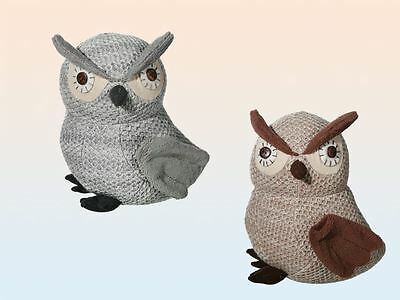 Weighted Owl Door Stopper Novelty Cute Animal Fabric Stop Wedge Draught Heavy
