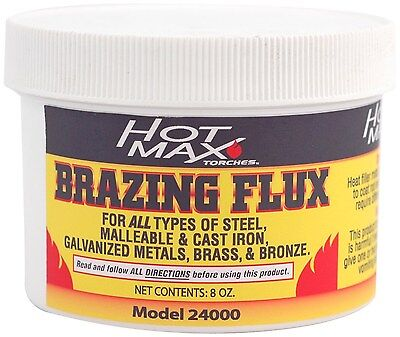 Hot Max 24000 Brazing Flux Powder, 8-Ounce  For all types of steel, malleable