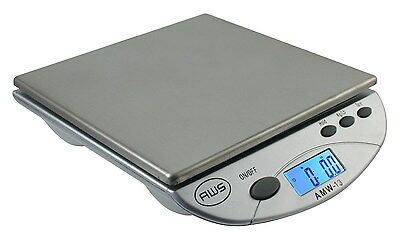 American Weigh Scales Silver AMW13-SL Digital Postal/Kitchen Scale, 13 LB NEW