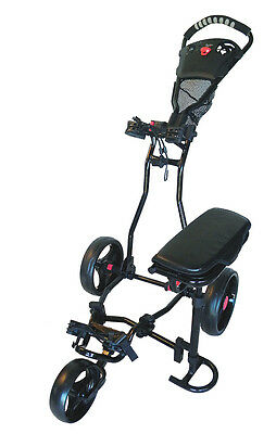 Founders Club Spider 3 Wheel Golf Push Cart with Seat - Black
