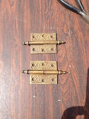"Ms 4 Two Matching 2.5 X 2"" 1870S Bronze Hinges"