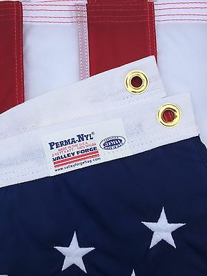 """2.5x4 FT 30""""x48"""" VALLEY FORGE NYLON  US AMERICAN FLAG """"FULLY SEWN"""" MADE IN USA"""