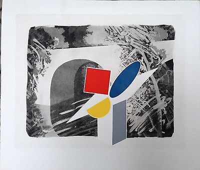 Tillyer William gravure originale signée pop art abstraction art abstrait UK
