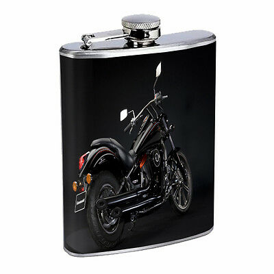 Motorcycles D7 Flask 8oz Stainless Steel Custom Speed Racing Bike