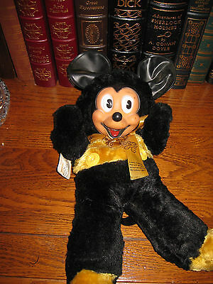 """Mickey Mouse Antique 1930s GUND  N Y C  Mickey Mouse Doll 12"""" WALT DISNEY RARE"""
