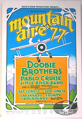 Doobie Brothers Mountain Aire Festival 1977 Poster Pablo Cruise