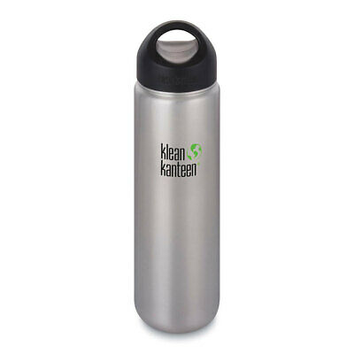 KLEAN KANTEEN 27oz 800ml BRUSHED STAINLESS WIDE MOUTH LOOP CAP BPA Free Bottle