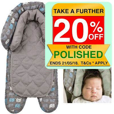 Grey Padding infant Baby Newborn Head/Neck Support for car seat/carrier stroller