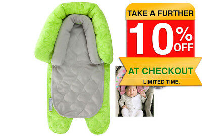 Green 2 in 1 infant Baby Newborn Head/Neck Support for car seat/carrier stroller