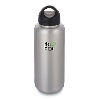 KLEAN KANTEEN 40oz 1182ml BRUSHED STAINLESS WIDE MOUTH LOOP CAP BPA Free Bottle
