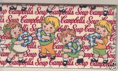 CAMPBELLS SOUP KIDS CHECKBOOK COVER FABRIC NEW # 1 NEW