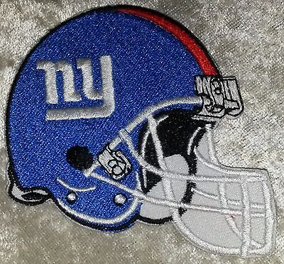 "New York Giants Helmet NFL 3.5"" Iron On Embroidered Patch ~USA Seller~FREE Ship!"