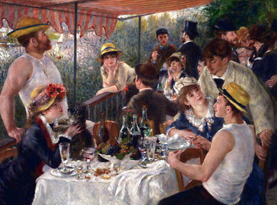 Luncheon Of The Boating Party by Pierre-Auguste Renoir Oil Painting Reproduction