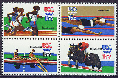 ESTADOS UNIDOS/USA 1979 MNH SC.1791/1794 Olympic Games Moscow