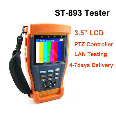 "ST-893 3.5"" Monitor CCTV Security Test Camera Video PTZ UTP 12V/Out RS485 Tester"