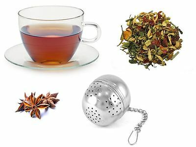 Tea Ball Strainer Infuser Silver Metal Bag Filter Strainer Squeezer Herbal Spice