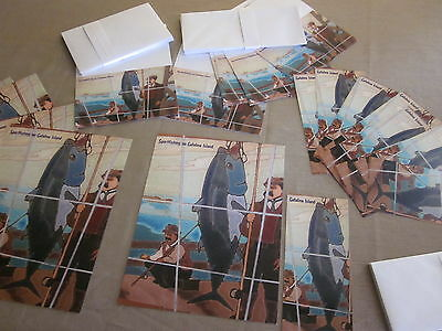 CATALINA ISLAND TILES SPORTFISHING 50 STATIONARY POST CARDS LETTER HEAD