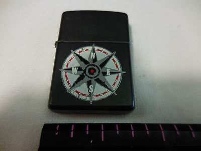 BLACK - Zippo Lighter -   Nautical compass motif / original label