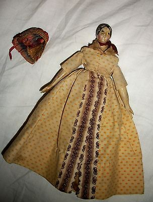 Early Small Papier Paper Mache Doll All Orig Beautiful Good to Excellent Condt
