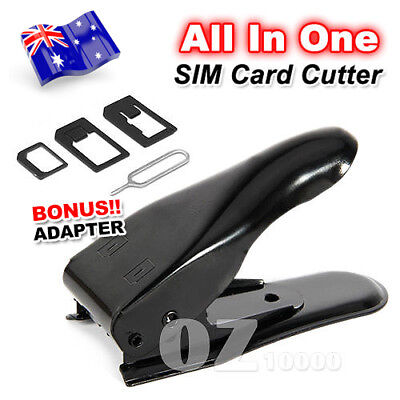 All in 1 For Apple iPhone 6 Plus 5 4 S iPad Nano Micro Sim Card Cutter Adapters