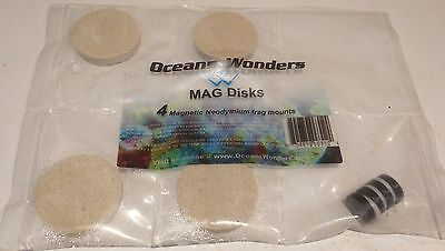 4x Mag Discs Frag Disks Cured Caribsea Reef Sand Best Quality SPS LPS Frag Plugs
