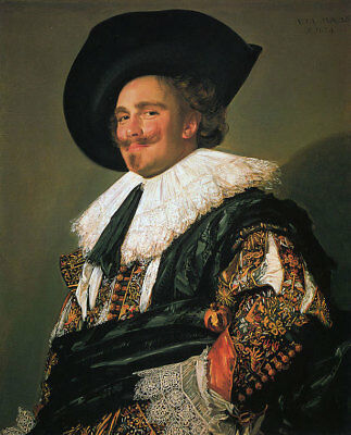 "The Laughing Cavalier by Frans Hals, Oil Painting Art Reproduction, 24"" x 30"""