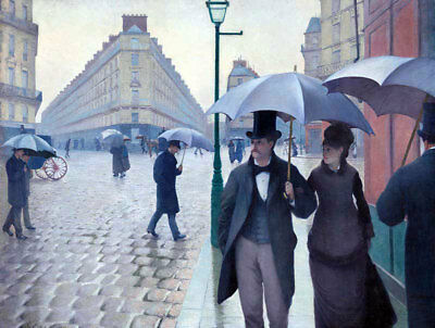 Paris Street In Rainy Weather by Gustave Caillebotte, Oil Painting Reproduction
