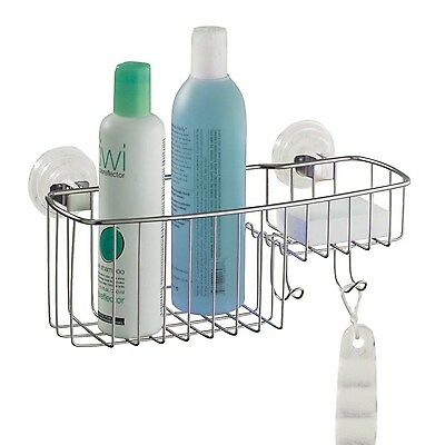 InterDesign Reo Power Lock Suction, Combo Basket, Stainless Steel by InterDesign
